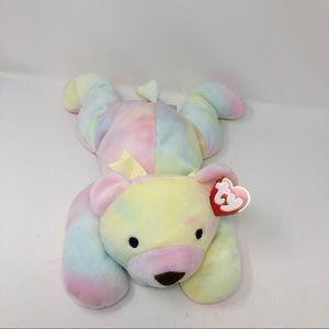TY Beanie Babies Pillow Pals Sherbet Tie Dye Plush Stuffed Bear